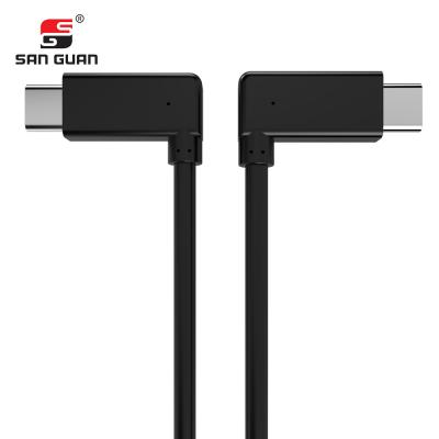 Picture of USB3.1 Gen2 cable 10Gbps 100W TPE(black)90 degree bend